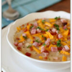 Slow Cooker White Bean Soup With Ham, Bacon And Cheddar …