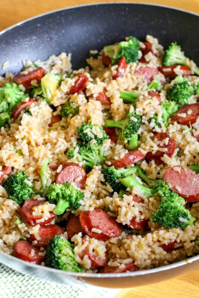 Smoked Sausage & Rice One Skillet Meal - All Things Mamma
