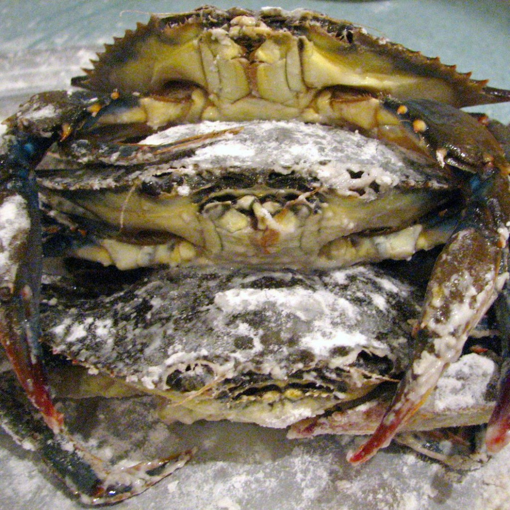 Soft-Shell Crab Love-In (before sauteed in butter and garlic)