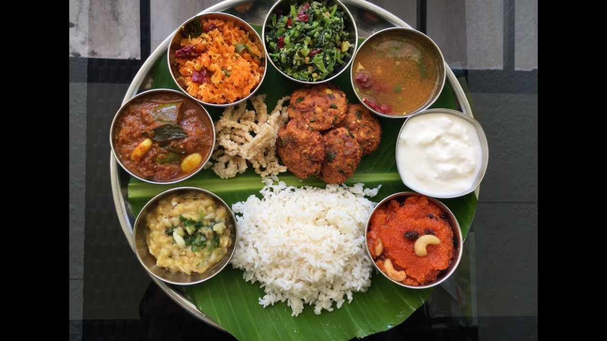 South Indian Thali Recipe | Veg South Indian Lunch Menu ...