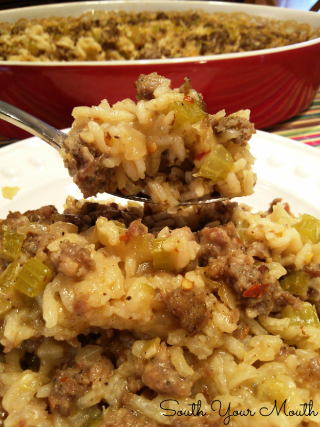 South Your Mouth: Sausage & Rice Casserole