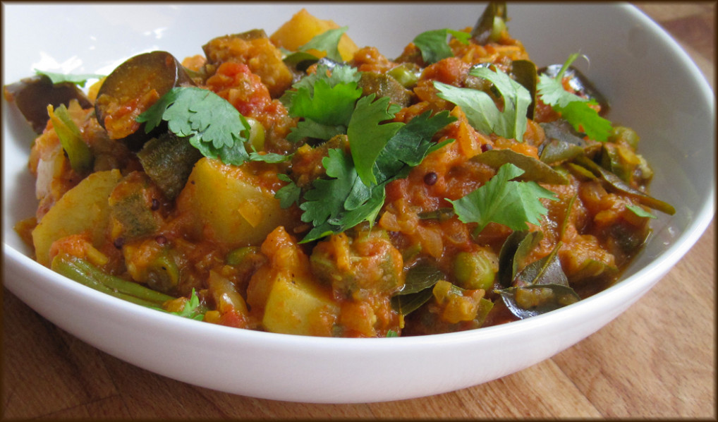 Southern Indian Vegetable Curry – A Glug Of Oil