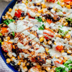 Southwest Chicken Quinoa Bean Salad – Hearty And Healthy!