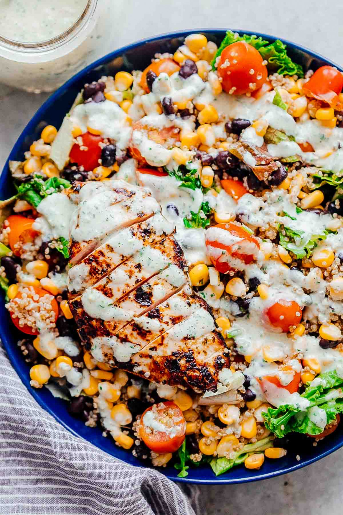 Southwest Chicken Quinoa Bean Salad - Hearty and Healthy!