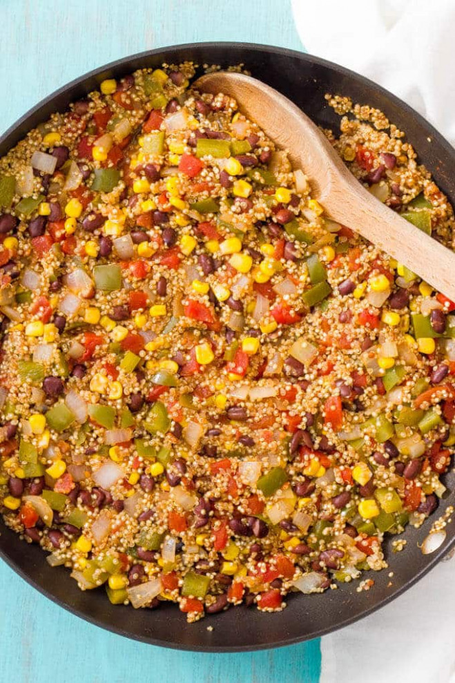 Southwest vegetarian quinoa skillet - Family Food on the Table