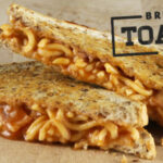 Spaghetti, Bacon And Cheese Toastie | Food In A Minute