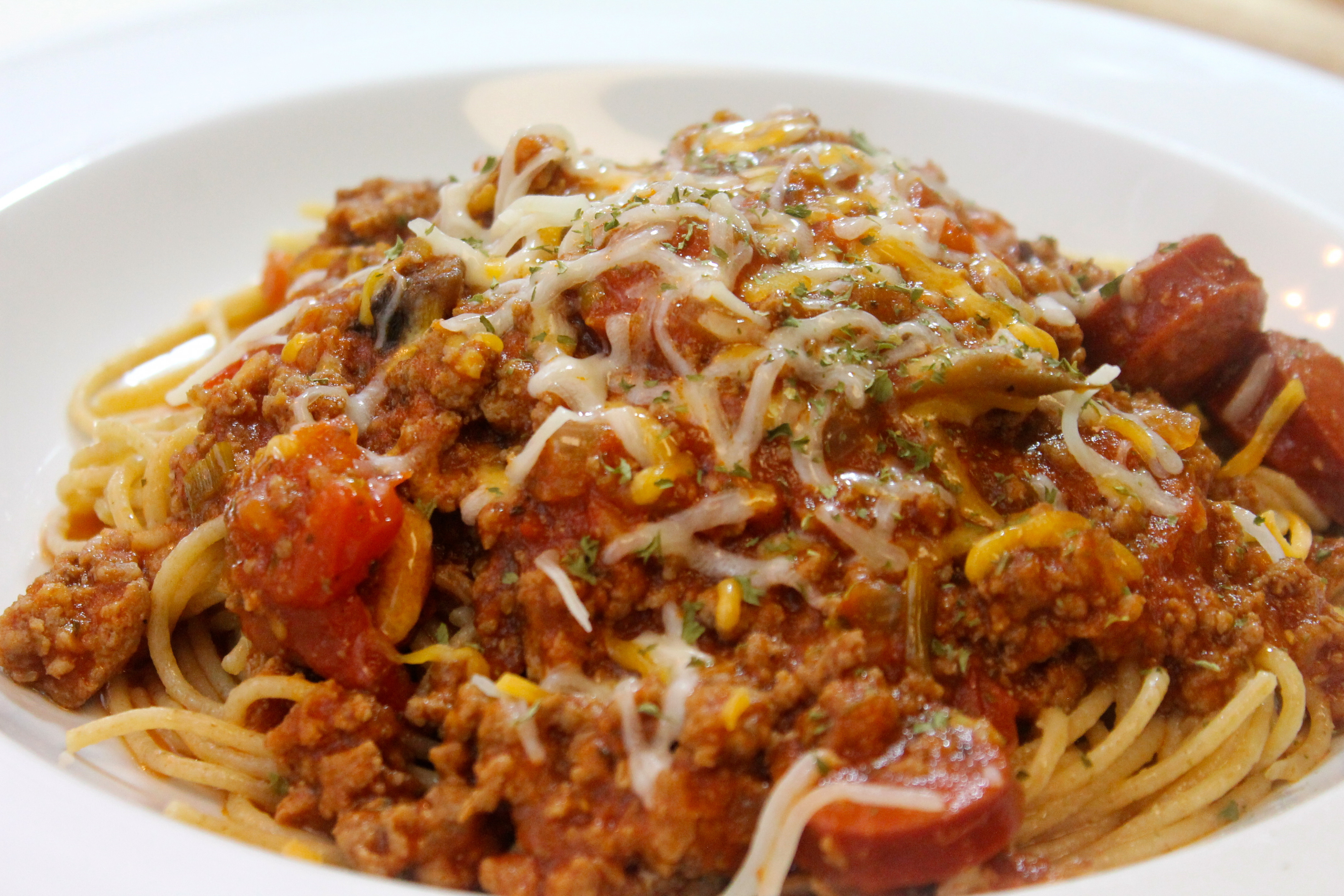 Spaghetti Recipe With Chunky Vegetable And Meat Sauce | I …