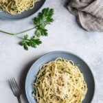Spaghetti With Garlic, Anchovies And Parsley