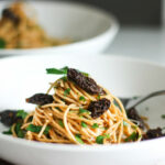 Spaghetti With Morels And Miso Brown Butter Sauce | Feasting …