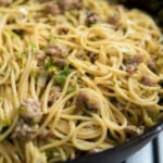 Spaghetti With Sausage And Leeks   Recipes   Food Network UK