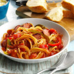 Spaghetti With Sausage And Peppers Recipe | Taste Of Home