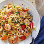 Spaghetti With Shrimp Artichokes And Feta 5