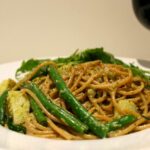Spaghetti With Walnut Pesto, Green Beans And Potatoes