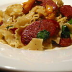 Spiced Roast Pumpkin Pasta With Chorizo