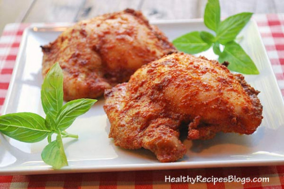 SPICY Boneless Skinless Baked Chicken Thighs | Healthy Recipes
