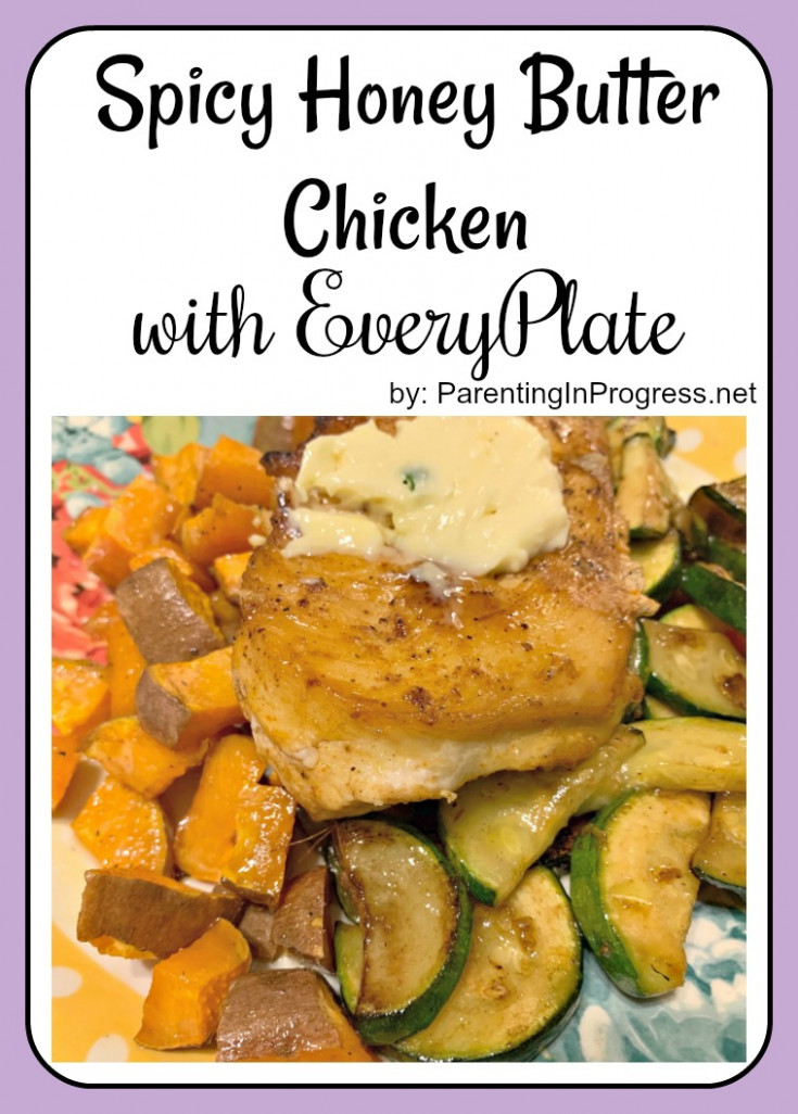 Spicy Honey Butter Chicken with Zucchini & Roasted Sweet ...