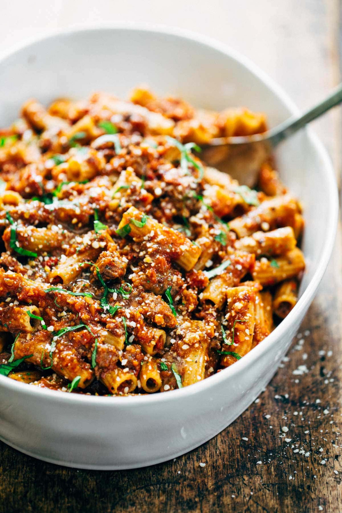 Spicy Sausage Rigatoni Recipe - Pinch of Yum