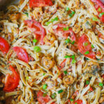 Spicy Shrimp With Basil Tomato Pasta