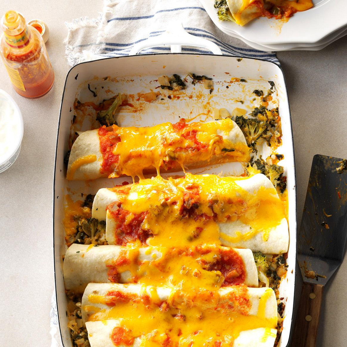 Spinach 'n' Broccoli Enchiladas | Taste of Home