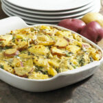Spinach and Artichoke Heart Two Potato Casserole