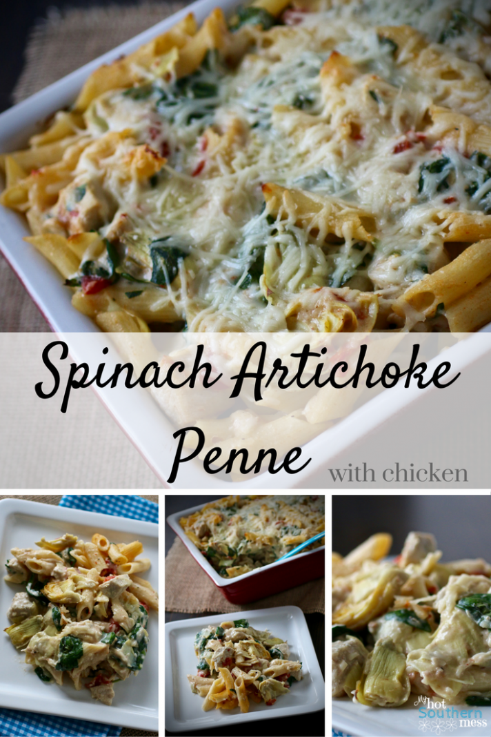Spinach Artichoke Penne with Chicken