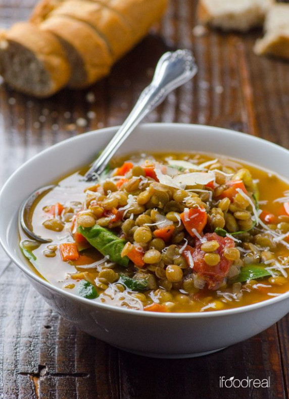 Spinach Lentil Soup | 27 Delicious And Healthy Meals With ...