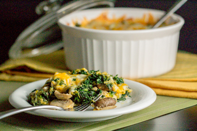 Spinach, Mushrooms & Cheese Casserole - I'm Bored, Let's Go...