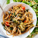 Spinach Pasta With Roasted Vegetables – Cookie And Kate