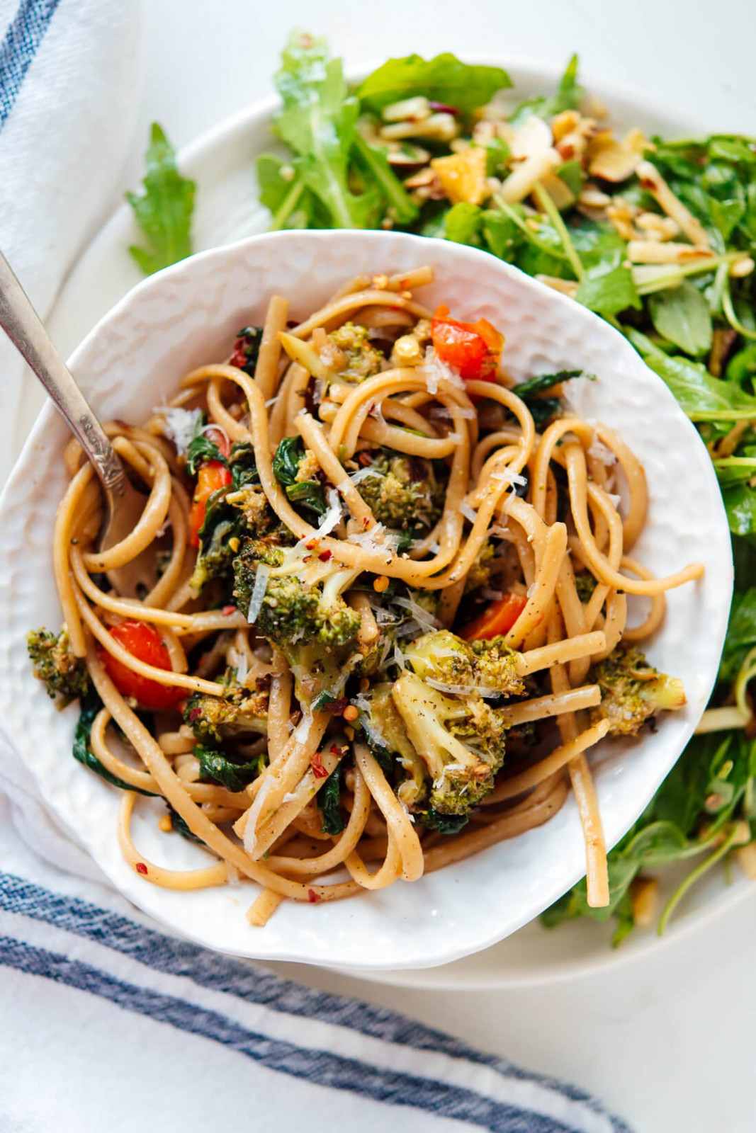 Spinach Pasta with Roasted Vegetables - Cookie and Kate