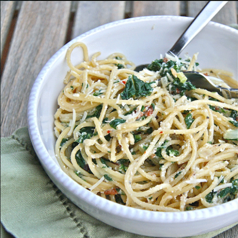 Spinach Ricotta Pasta - The Kids Cook Monday