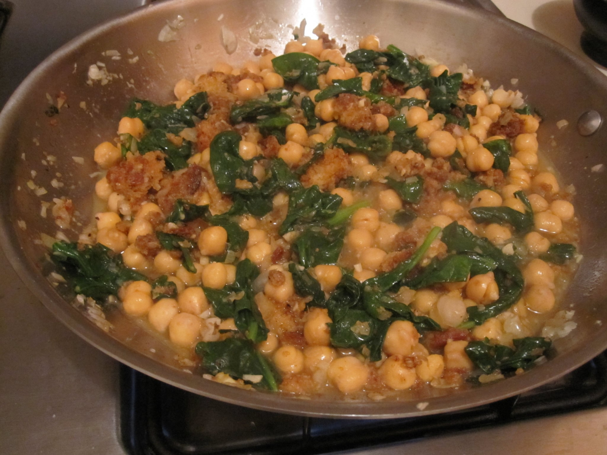 Spinach With Garbanzo Beans Recipe | POPSUGAR Food