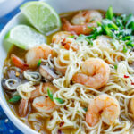 Sriracha Shrimp Ramen Noodle Soup – Peas And Crayons