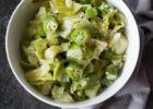 Steamed Cabbage and Okra