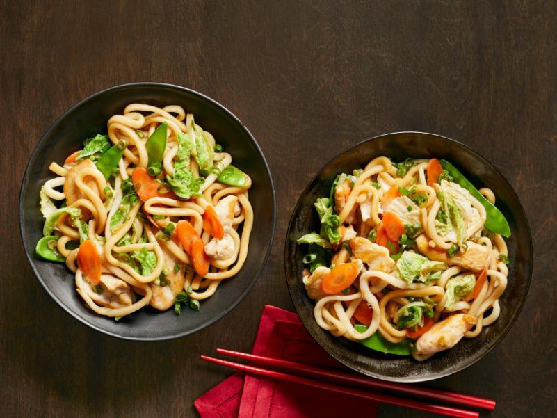 Stir-Fried Udon with Chicken and Vegetables Recipe | Food ...