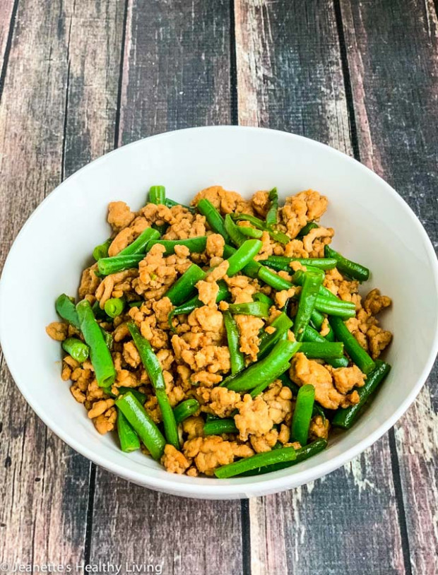 Stir-Fry Ground Chicken and Green Beans Recipe - Jeanette ...