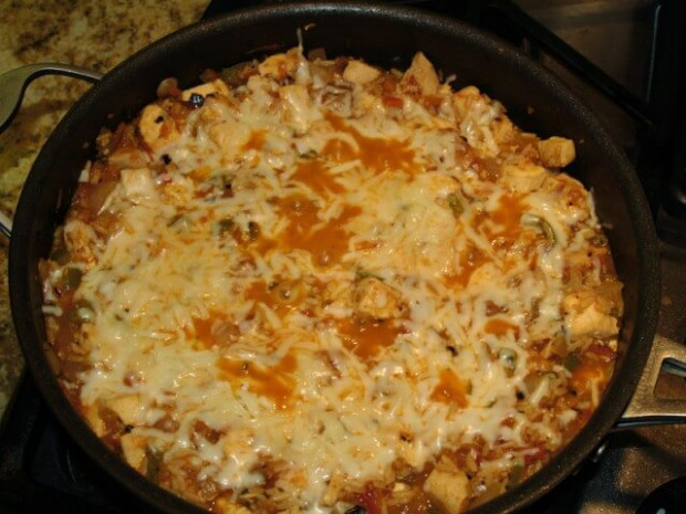 Stove Top Chicken, Salsa, And Rice Skillet Recipe from ...