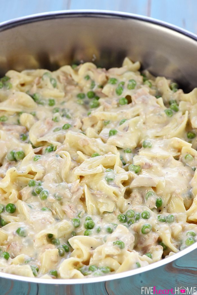 Stovetop Tuna Noodle Casserole Skillet ~ a quick and easy ...