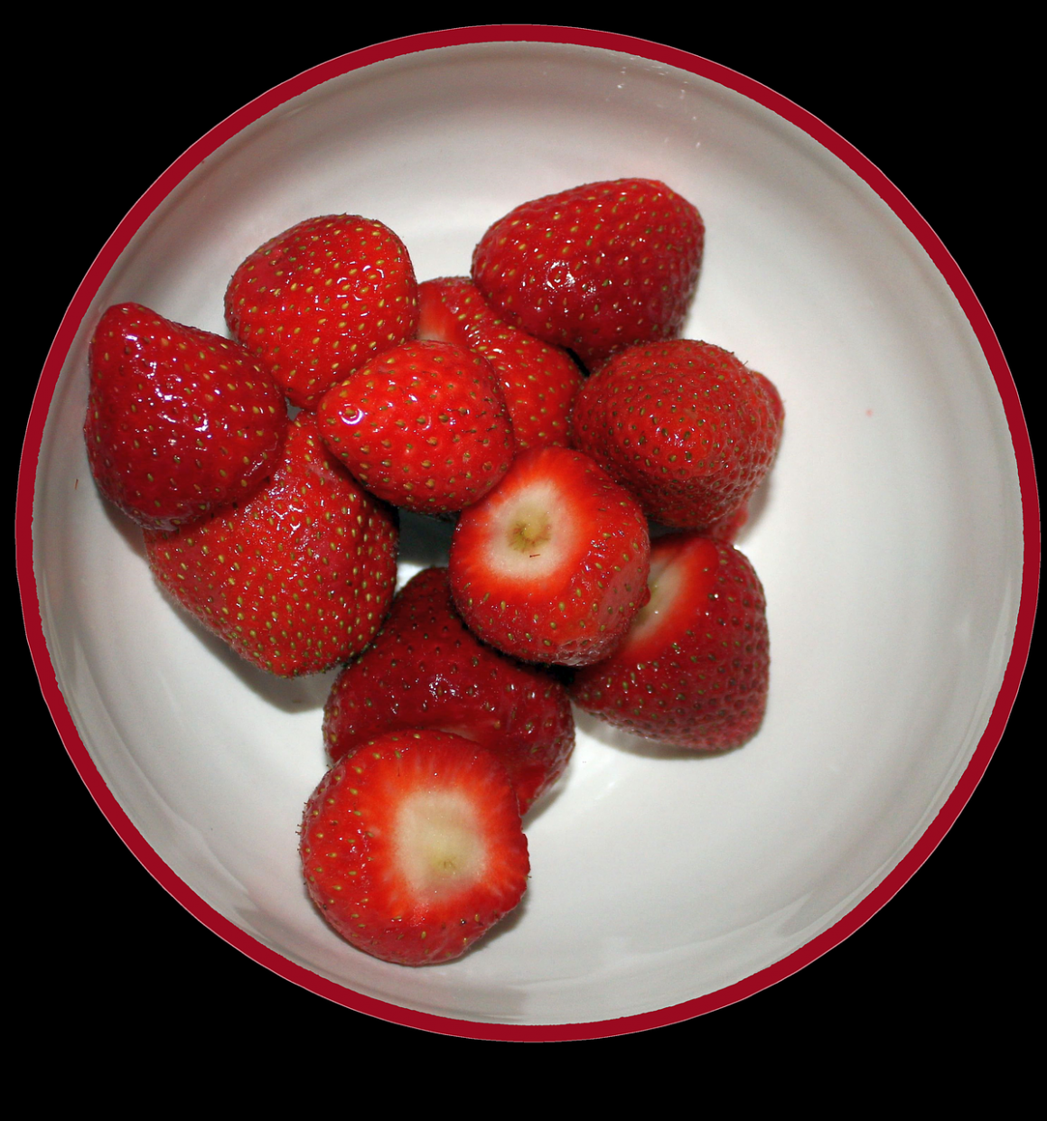 Strawberries, Bowl, Fruit, Fresh