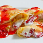 Strawberry And Mascarpone Crepes With Strawberry Syrup …