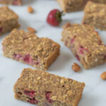 Strawberry Oatmeal Breakfast Bars