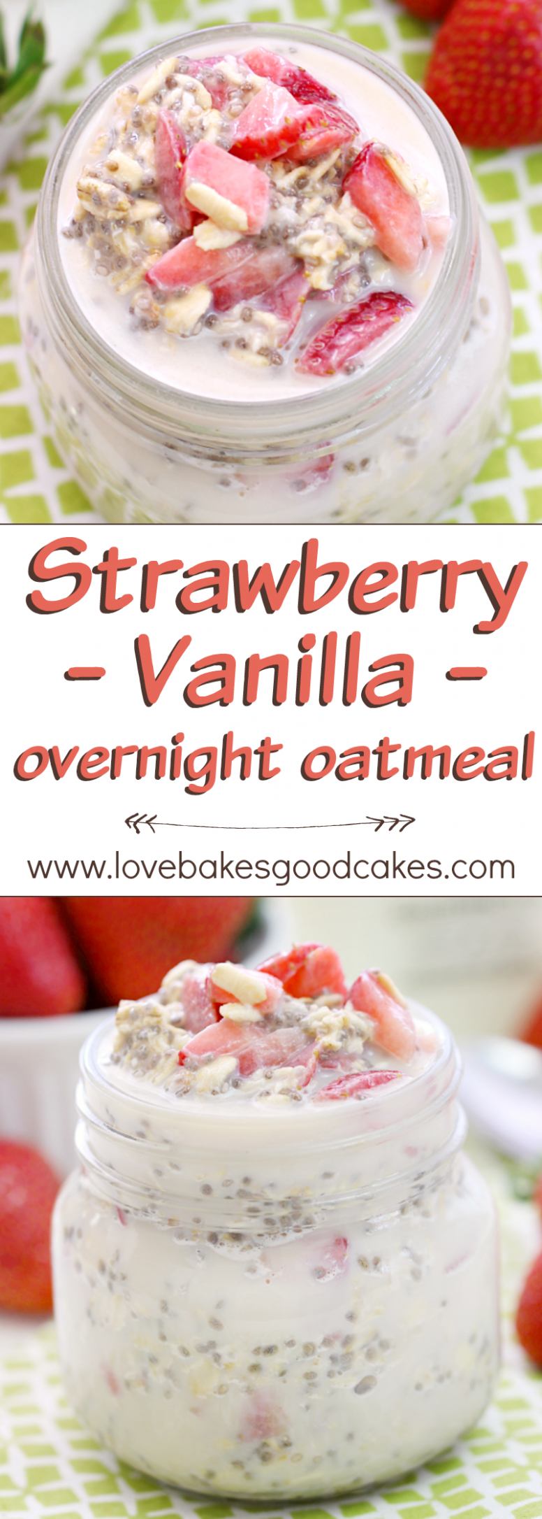 Strawberry Vanilla Overnight Oatmeal | Recipe | !!Love ...