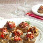 Stuffed Mushroom; With Herbs & Sundried Tomatoes
