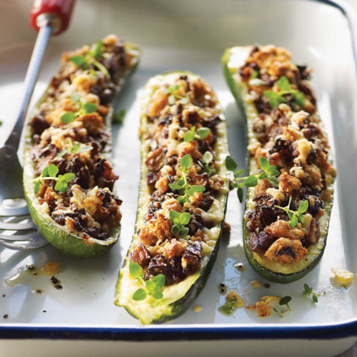 Stuffed Zucchini Recipe – Clean Eating Magazine