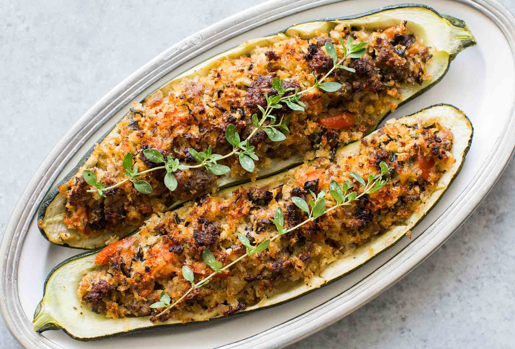 Stuffed Zucchini with Sausage! | SimplyRecipes