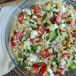 Summer Orzo Pasta Salad Recipe - A Cedar Spoon