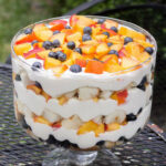 Summer Peach Blueberry Trifle