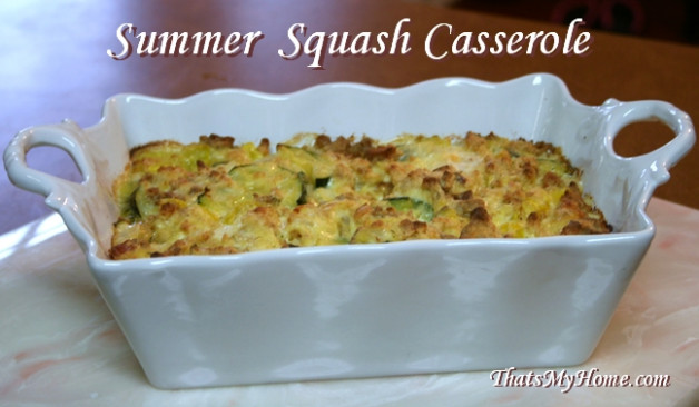 Summer Squash Casserole - Recipes Food and Cooking