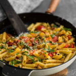 Summer Vegetable Pasta With Chickpeas | Naturally.