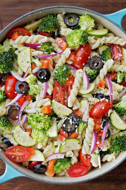 Summer Veggie Pasta Salad | Recipe | Vegetables, Summer ...