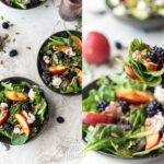 Summery Salad With Blackberry Vinaigrette + Almond Ricotta